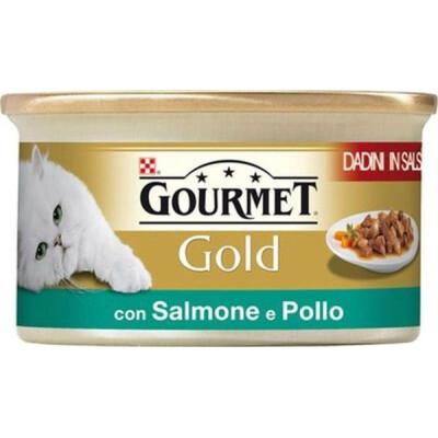 GOLD GOURMET GR.85 DADINI SALMONE-POLLO