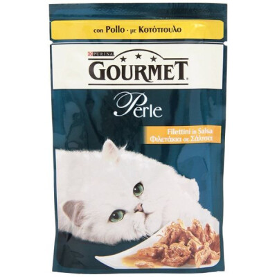 GOURMET PERLE FILETTINI CON POLLO GR 85