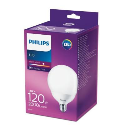 PHILIPS LAMPADINA LED GLOBO 120W E27 G120 LUCE CALDA (2700K)