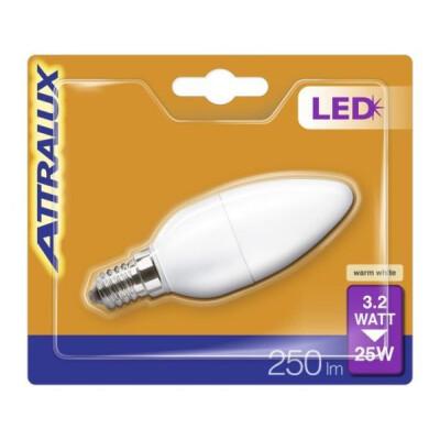 ATTRALUX LED LAMPADINA OLIVA SMERIGLIATA 25W E14