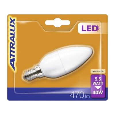 ATTRALUX LED LAMPADINA OLIVA SMERIGLIATA 40W E14
