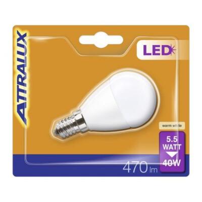 ATTRALUX LED LAMPADINA SFERICA SMERIGLIATA 40W E14