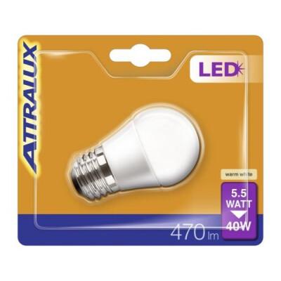 ATTRALUX LED LAMPADINA SFERICA SMERIGLIATA 40W E27