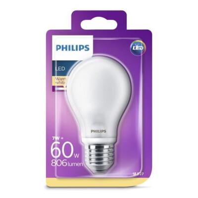 PHILIPS LAMPADINA LED GOCCIA IN VETRO 60 W E27 LUCE CALDA (2700K) NON DIMMERABILE
