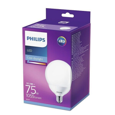 PHILIPS LAMPADINA LED GLOBO 75W E27 LUCE FREDDA (6500K) NON DIMMERABILE