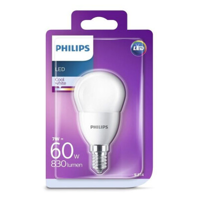 PHILIPS LAMPADINA LED SFERICA 60W E14 LUCE NATURALE (4000K) NON DIMMERABILE