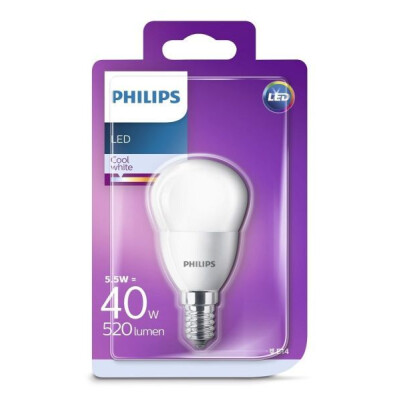PHILIPS LAMPADINA LED SFERICA 40W E14 LUCE NATURALE (4000K) NON DIMMERABILE