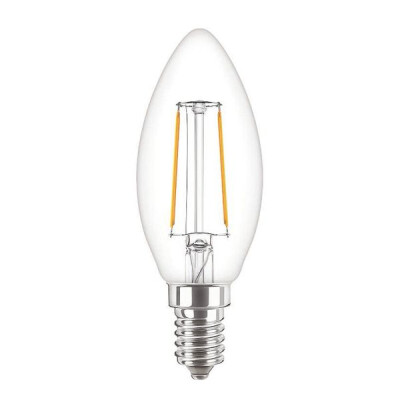 ATTRALUX LAMPADINA LED OLIVA FILAMENTO E14 25 WATT LUCE CALDA 2700K