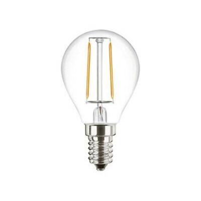 ATTRALUX LAMPADINA LED SFERICA FILAMENTO E14 40 WATT LUCE CALDA 2700K