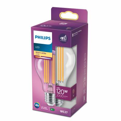 Philips lampadina LED goccia filamento 120W E27 2700K non dim