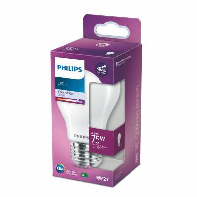 Philips lampadina LED goccia vetro 75W E27 4000K non dim