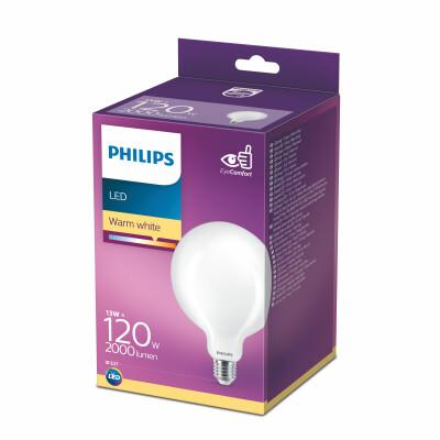 Philips lampadina LED globo vetro 120W E27 2700K non dim