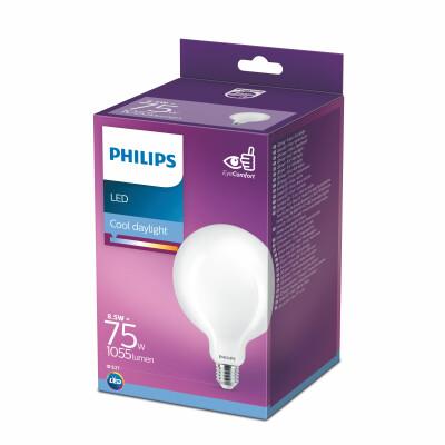 Philips lampadina LED globo vetro 75W E27 6500K non dim