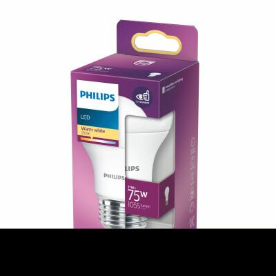 Philips lampadina LED  goccia 75W E27 2700K non dim