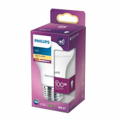 Philips lampadina LED  goccia 100W E27 2700K non dim