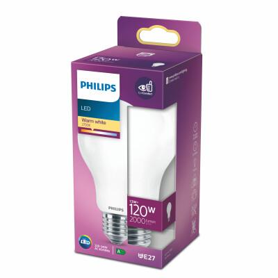 Philips lampadina LED goccia vetro 120W E27 2700K non dim