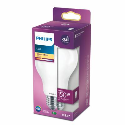 Philips lampadina LED goccia vetro 150W E27 2700K non dim