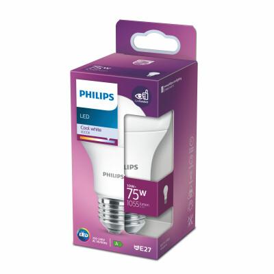 Philips lampadina LED  goccia 75W E27 4000K non dim
