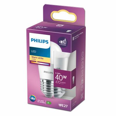 Philips lampadina LED sfera 40W E27 2700K non dim