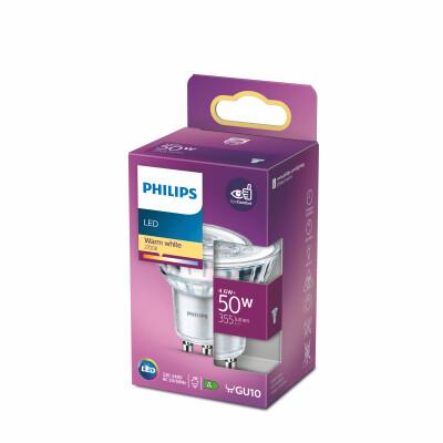 Philips lampadina LED faretto  in vetro 50W GU10 2700K non dim 36°