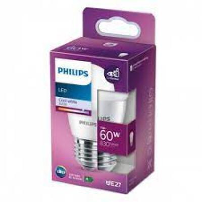 Philips lampadina LED sferica 60W E27 4000K non dim
