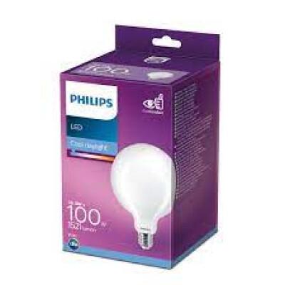 Philips lampadina LED Globo in vetro 100W E27 6500K non dim
