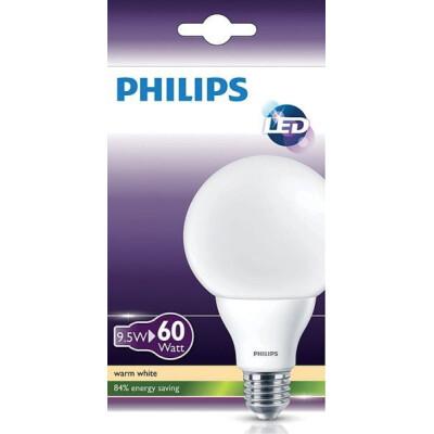 PHILIPS LAMPADINA LED GLOBO SMERIGLIATA 60W E 27 G93 LUCE CALDA (2700K)