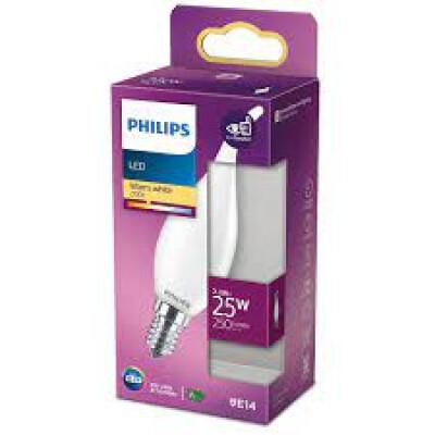 Philips lampadina LED colpo di vento in vetro 25W E14 2700K non dim