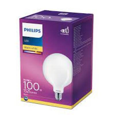 Philips lampadina LED globo in vetro G120 100W E27 2700K non dim