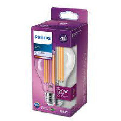 Philips lampadina LED goccia filamento 120W E27 4000K non dim