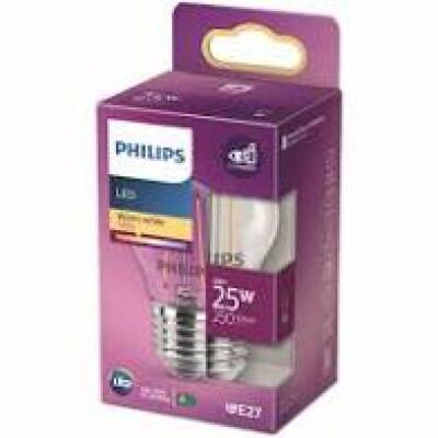 Philips lampadina LED sferica filamento 25W E27 2700K non dim