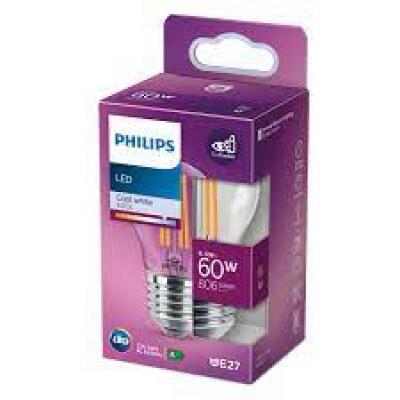 Philips lampadina LED sferica filamento 60W E27 4000K non dim