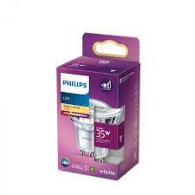 Philips lampadina LED faretto in vetro GU10 35W 2700K non dim