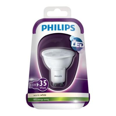 PHILIPS FARETTO LED GU10 35W LUCA CALDA (2700 K)(CONSUMO3,5W)