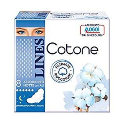 LINES COTONE ULTRA NOTTE CON ALI 8 PZ