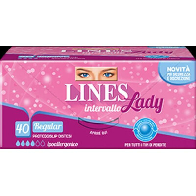 LINES PROTEGGISLIP INTERVALLO LADY REGULAR 40 PEZZI