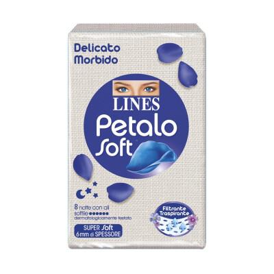 LINES PETALO SOFT NOTTE SOTTILE CON ALI 8 PZ
