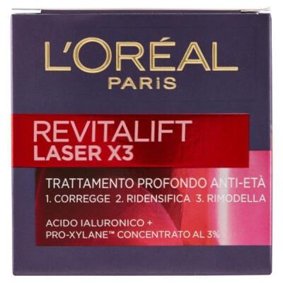 L'OREAL REVITALIFT LASER X3 - CREMA VISO PROFONDO ANTI-ETÀ, GIORNO - 50 ML