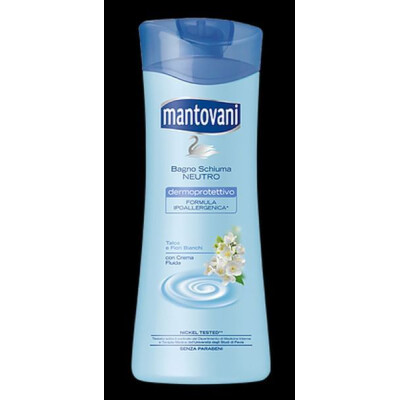 MANTOVANI BAGNOSCHIUMA NEUTRO TALCO E FIORI BIANCHI 400 ML