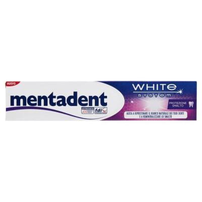 MENTADENT DENTIFRICIO WHITE SYSTEM PROTEZIONE SMALTO ML 75