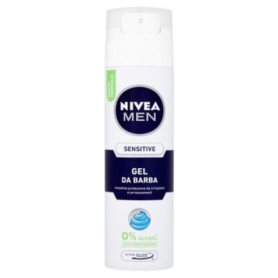 NIVEA FOR MEN SENSITIVE GEL DA BARBA 200 ML
