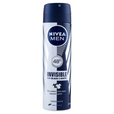 NIVEA MEN INVISIBLE FOR BLACK & WHITE DEODORANTE SPRAY ML 150