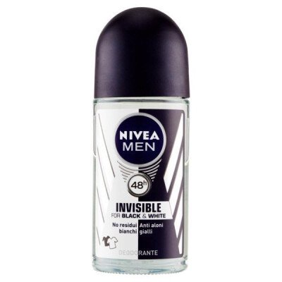 NIVEA MEN INVISIBLE FOR BLACK & WHITE DEODORANTE ROLL-ON 50 ML