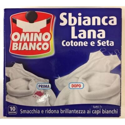 OMINO BIANCO SBIANCALANA COTONE E SETA 10 BUSTE