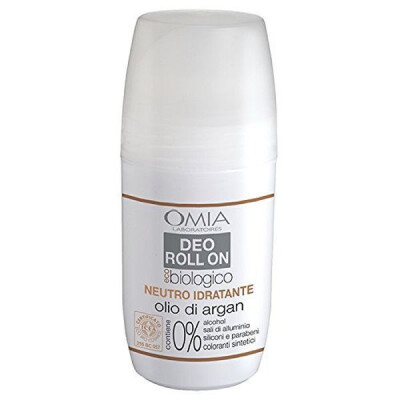 OMIA DEODORANTE ROLL ON ECO BIOLOGICO NEUTRO IDRATANTE CON OLIO DI ARGAN 50 ML