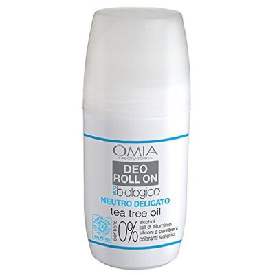 OMIA DEODORANTE ROLL ON ECO BIOLOGICO NEUTRO DELICATO TEA TREE OIL 50 ML
