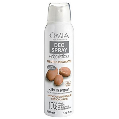 OMIA DEODORANTE SPRAY ECO BIOLOGICO NEUTRO IDRATANTE CON OLIO DI ARGAN 150 ML