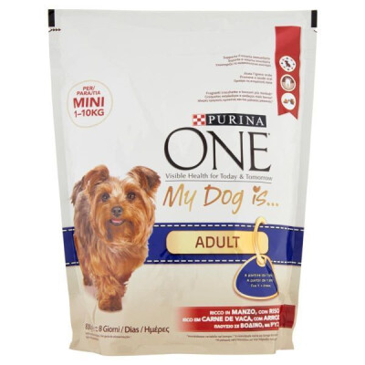 PURINA ONE MY DOG ADULT MINI BUSTA MANZO E RISO 800 GR