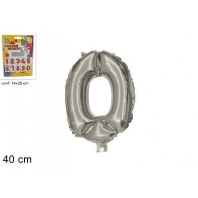 PALLONE NUMERO N.0 40 CM SILVER