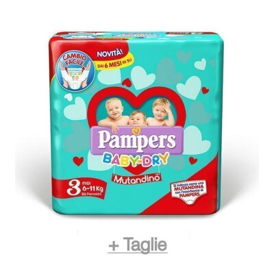 PAMPERS BABY DRY MUTANDINO JUNIOR